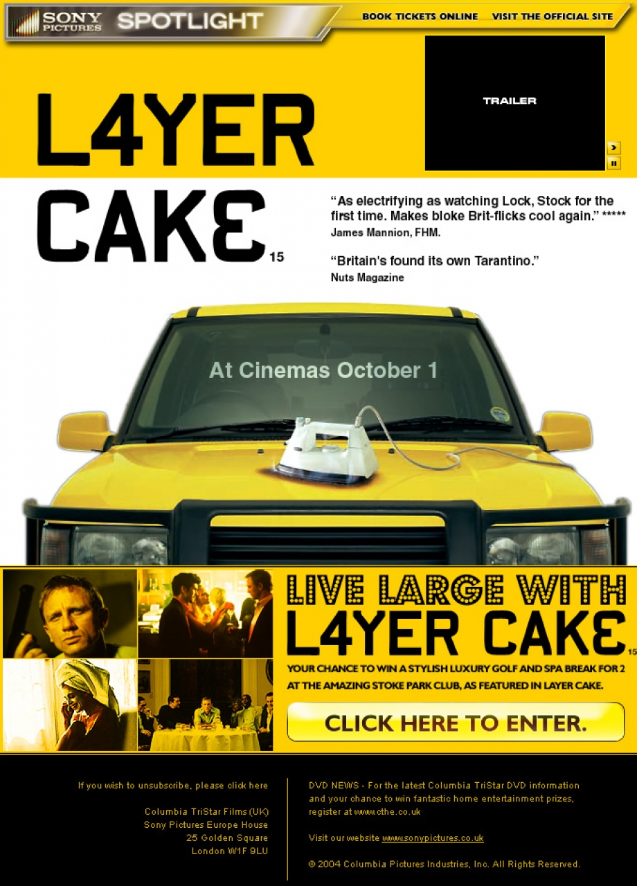 layer cake movie email campaign